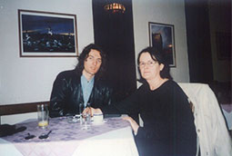 Zoran Bognar i Mirej Roben, hotel Royal, Beograd, 1998.