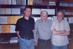 Zoran Bognar, Simon Simonović i Novica Tadić u IK 'Rad', Beograd, 2001.