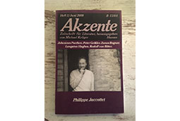 Naslovna strana najznačajnijeg nemačkog časopisa za književnost Akzente, 2000.
